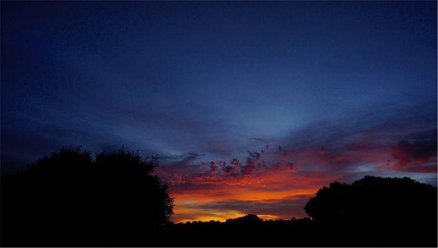erstes Morgenlicht in der Mancha