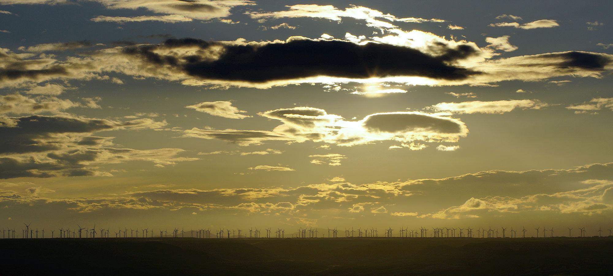 * Zählbild mit Windturbinen I *