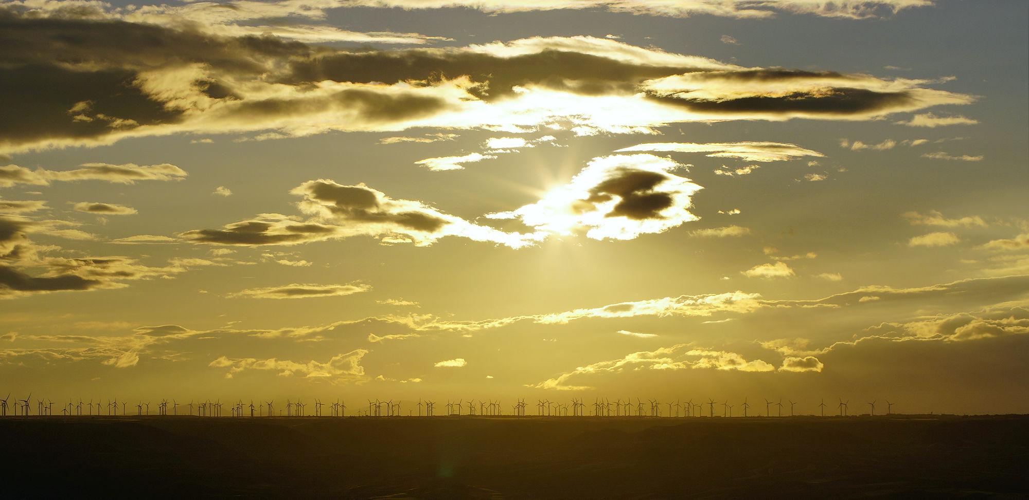 * etwas später ~ Zählbild mit Windturbinen II *