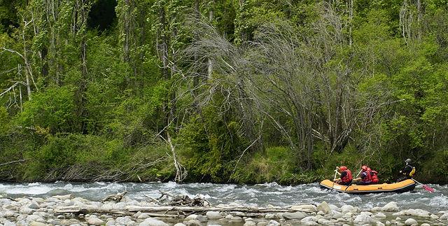 Rafting auf der Ésera bei Campo