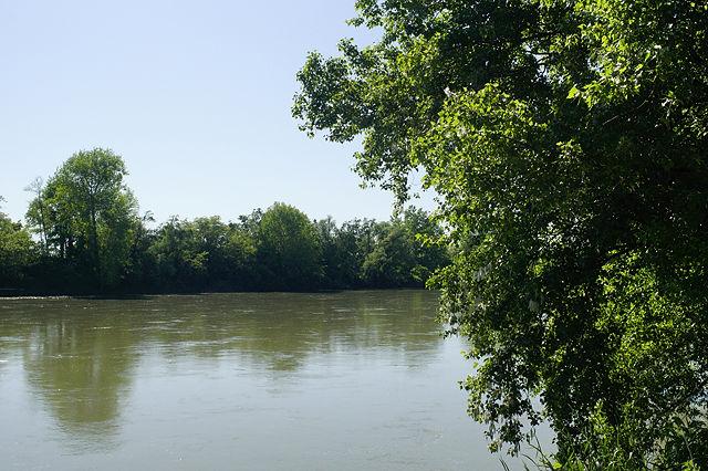 auf La Garonne gespickelt