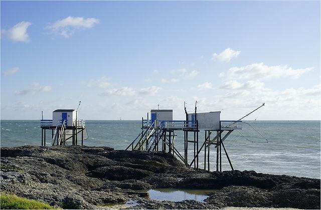 Fischerhütten bei Saint-Palais-sur_Mer