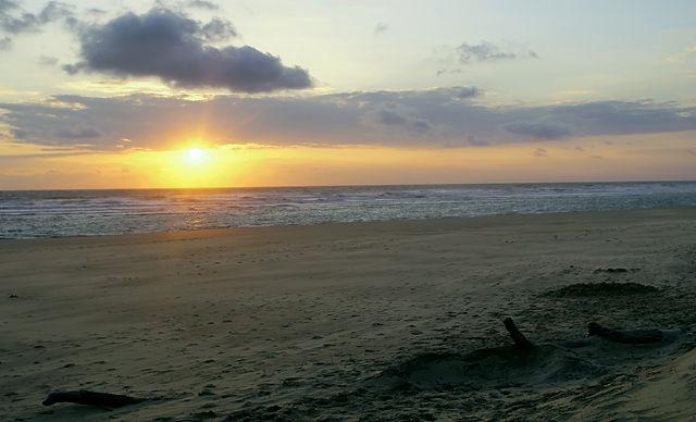 atlantischer Sonnenuntergang