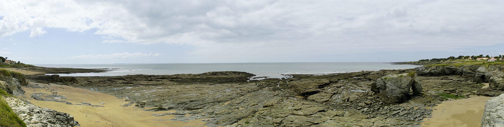 * Bucht bei Préfailles, Ebbe *
