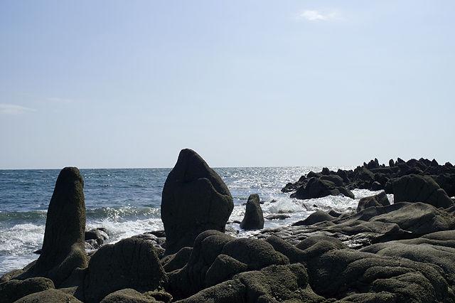 Fels'Statuen' bei Piriac-sur-Mer