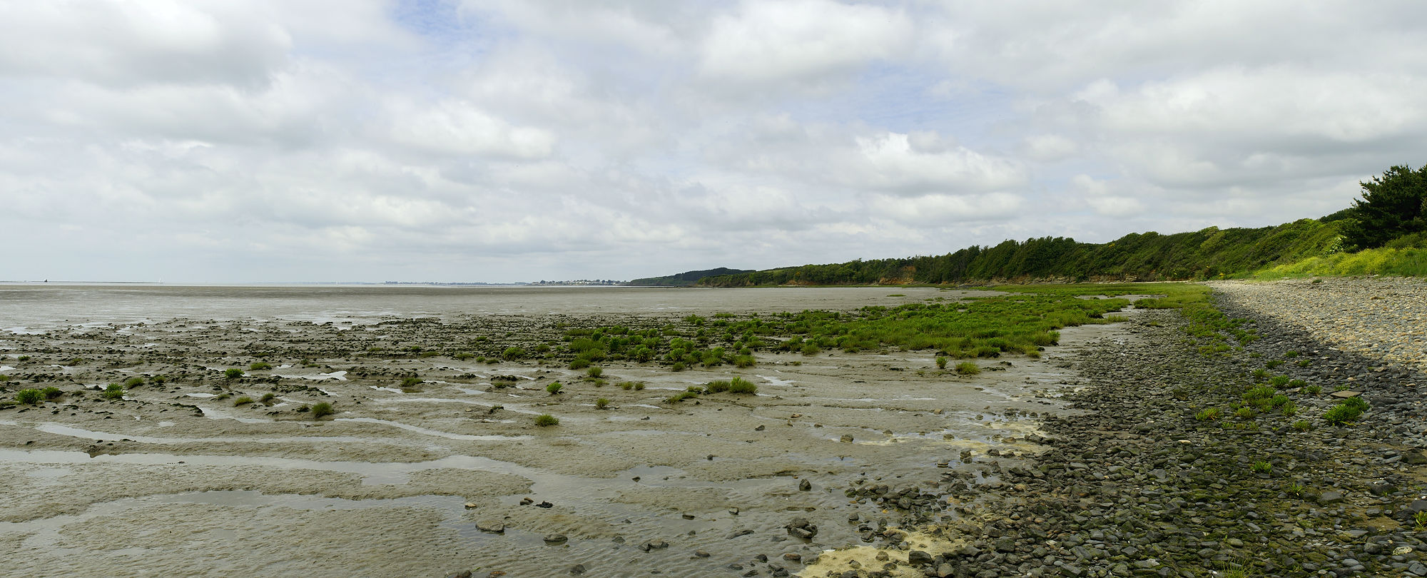 * Strandspaziergang am Auslauf der Vilaine ~ Ebbe *
