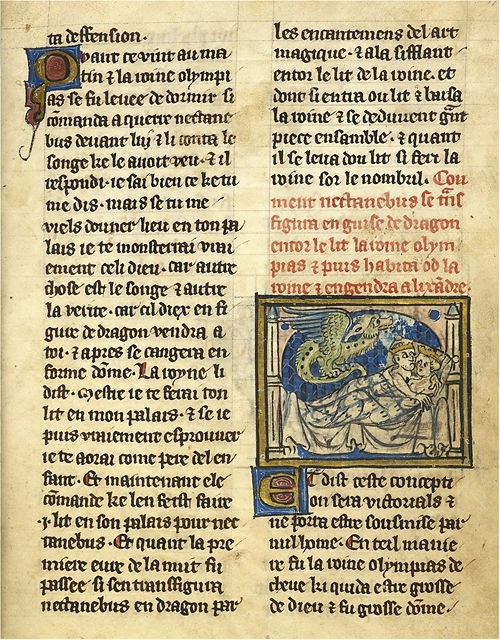 Alexandre de Bernay ~ Le Roman d'Alexandre ~ Pärchen und Drache