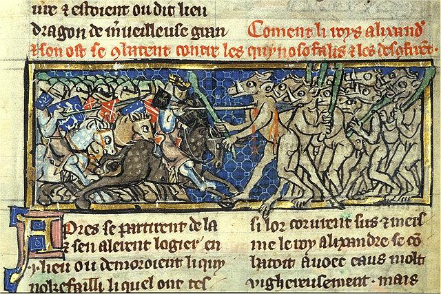Alexandre de Bernay ~ Le Roman d'Alexandre ~ Auszug