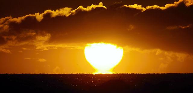 Ablösung vom Meer ~ Sonnenaufgang heute morgen