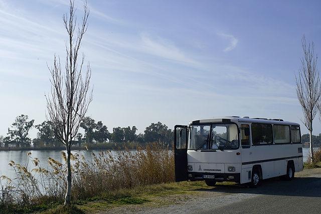 der alte Herr Magirus am Ufer des Ebro