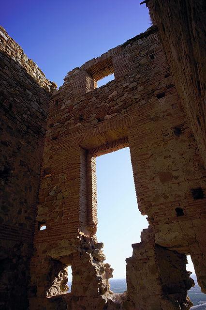 Castell d'Almenara  ~ Innenansicht des östlichen Turms
