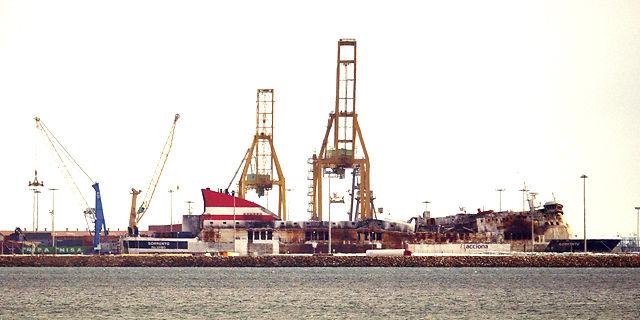 RoRo-Fähre Sorrento im Hafen von Sagunt
