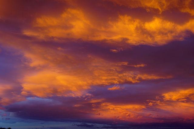 Himmel und Meer in Flammen I