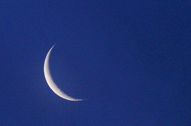 Mond als schmale Sichel