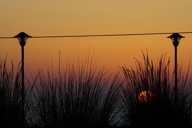 7:16, 3 Minuten zu spät: Sonnenaufgang vom Bett aus, weil verpennt
