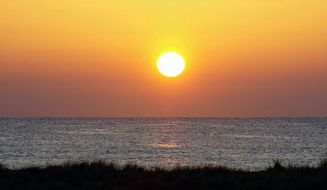 in die Tongs gehüpft und an den Strand mit Verspätung ~ 3 Scheiben über dem Horizont