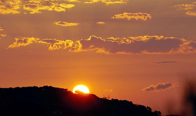 Sonnenaufgang mal nicht über dem Meer . . .