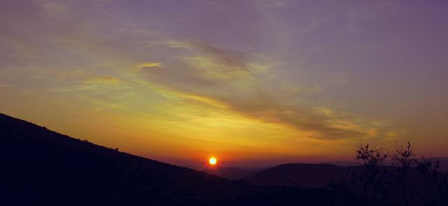 Sonnenuntergang von oben betrachtet . . .