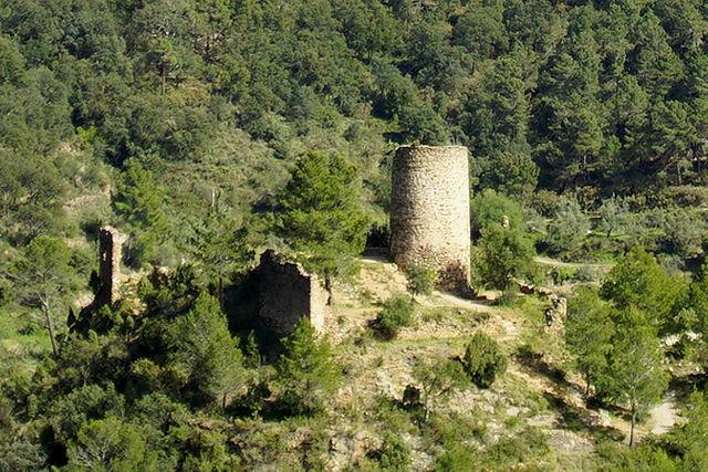näher ran  ~ Burg auf einem Hügel mitten im Tal