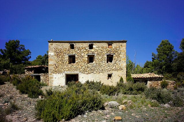 verlassenes Bauernhaus in der Sierra de Gúdar