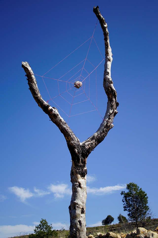 Unterwegs: Land-Art ~ das Netz der Riesenspinne