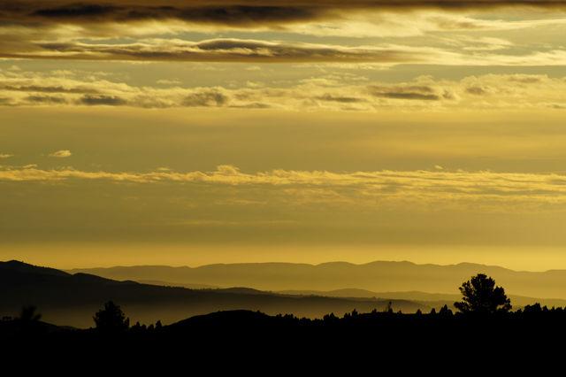 Blick gen Osten am Morgen