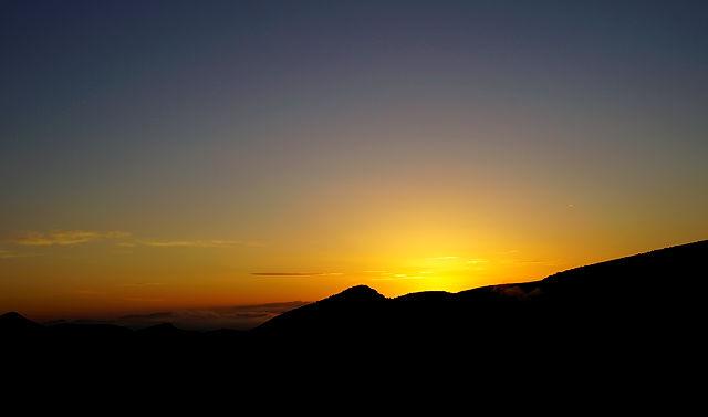 gerade noch rechtzeitig aufgewacht ~ kurz vor Sonnenaufgang
