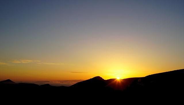 Sonnenaufgang ~ das erste Aufblitzen
