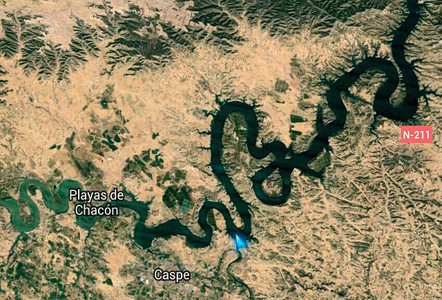 Ebro, Mar de Aragon ~ Dank an Google (Maps screenshot)