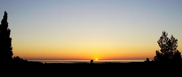 Sonnenaufgang über dem Mittelmeer