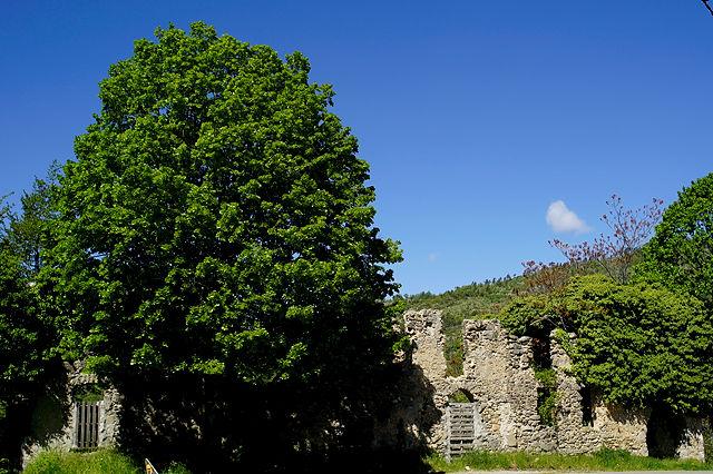 Ruinen am Pass