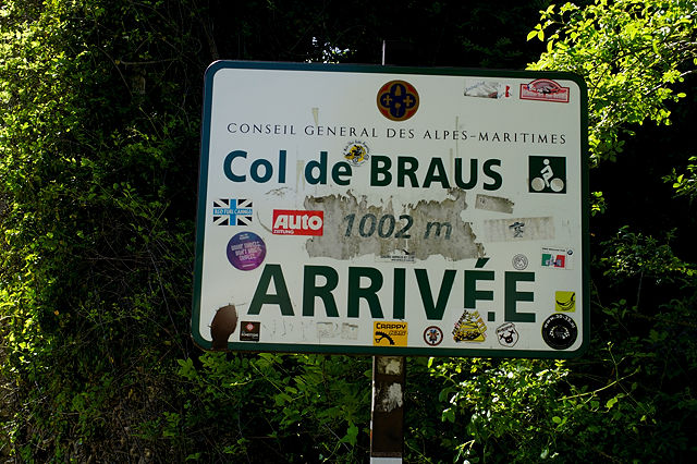 Angekommen ~ Col de Braus