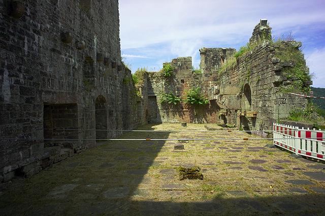 Burg Wildenberg, der große (Ritter-)Saal im Palas, 200 m²