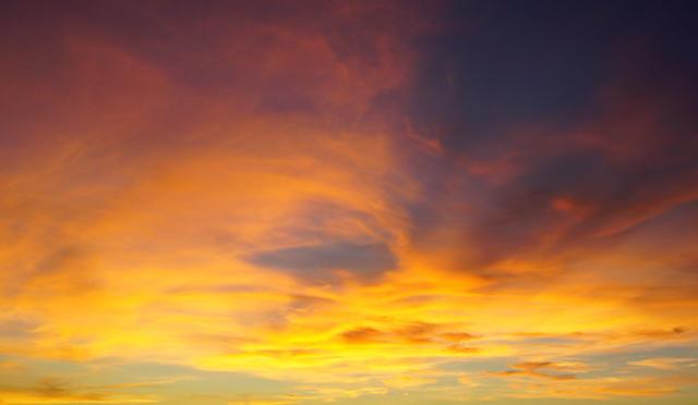 gestern abend ~ Himmel in Wow!, Rot und Gold
