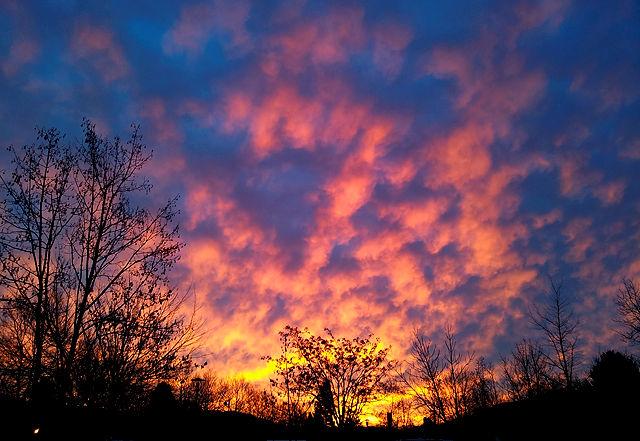 ein bunter Morgenhimmel ist keine Garantie für einen sonnigen Tag :(