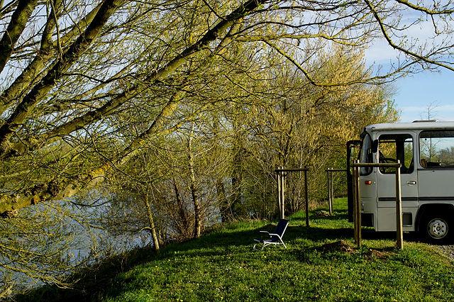Unser sonniges Plätzchen auf dem Rhôneufer