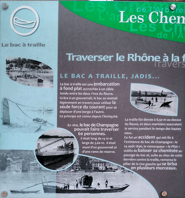Traverser le Rhône ~ le bac a traille