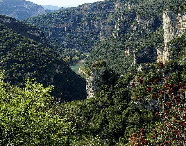 Ardèche von oben, nicht sehr nahe