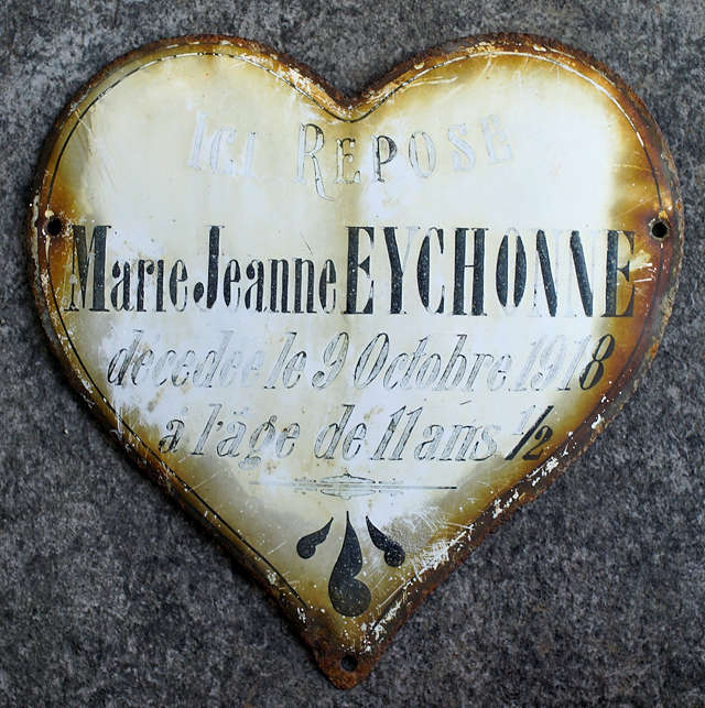 Marie Jeanne, gestorben 1918 im Alter von elfeinhalb Jahren