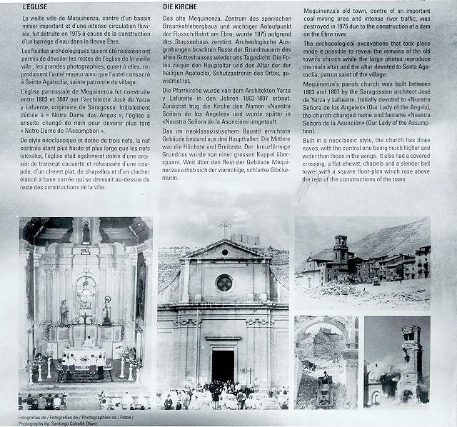 Schautafeln mit historischen Photos von Santiago Caballé Oliver