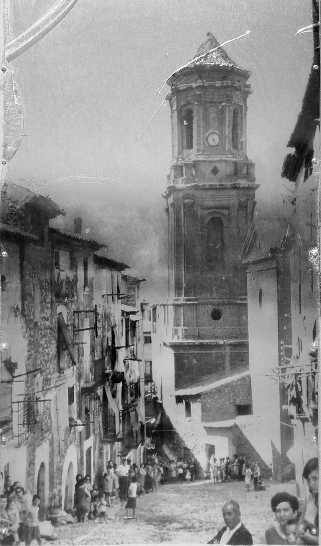 Schautafel mit historischem Photo
