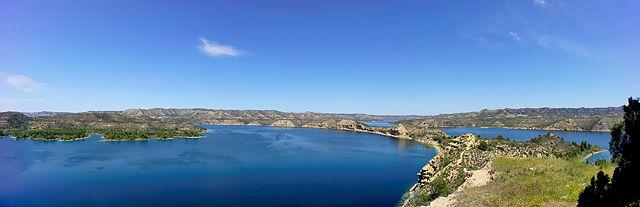 Mar de Aragón ~ Panorama von der Isla Magdalena aus ~ klicken lohnt sich!