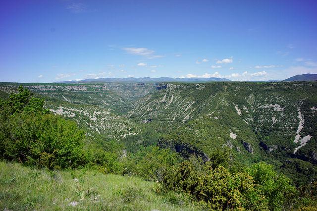 Blick von oben über die Gorges de la Vis