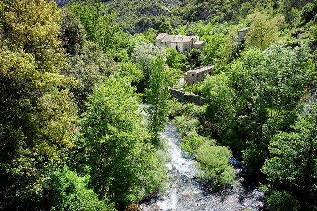 La Vis bei Gorniès ~ Blick von der Brücke flussabwärts