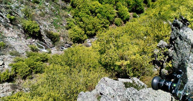 Dokumentation ~ mit dem Handy die Kameraposition für die Bilder von den Cascades ~ fast senkrecht nach unten