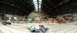 Innenpanorama der Zeppelinhalle