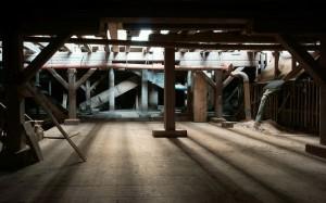 Zeppelinhalle, im Untergeschoß