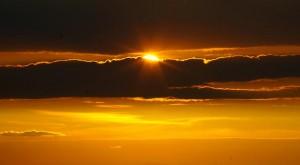 Abendhimmel in Gold