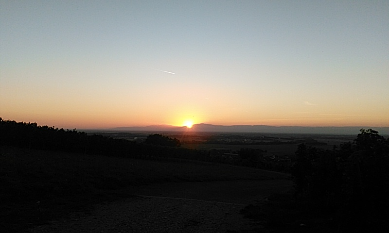Sonnenuntergang halbe halbe