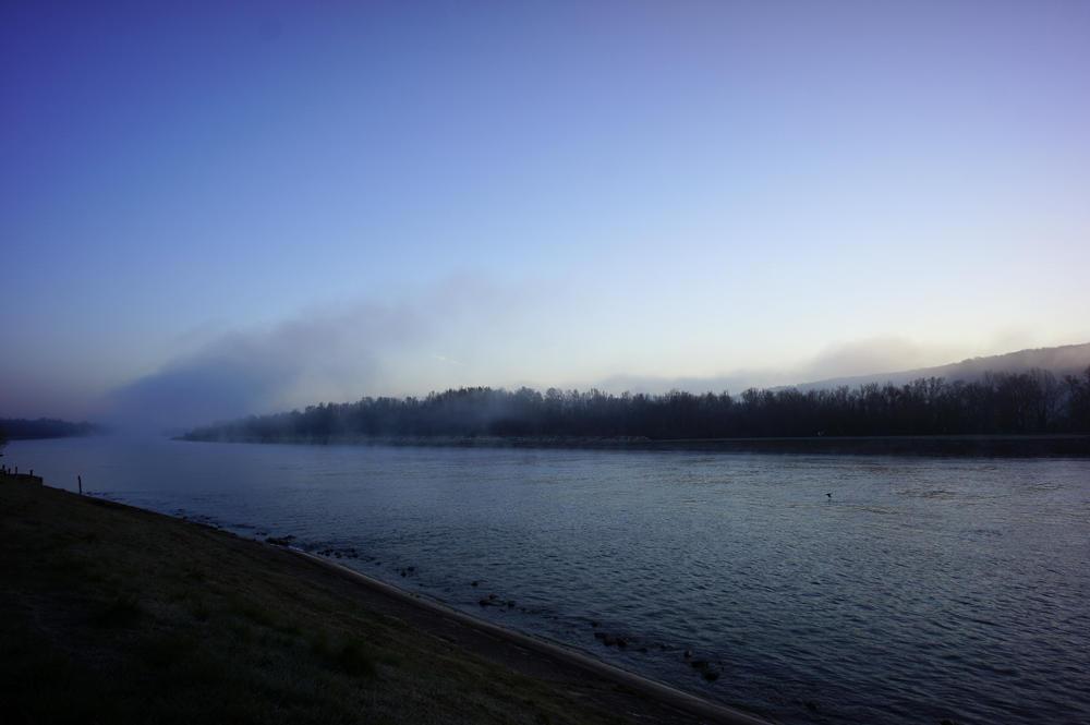 morgens am Rhein ~ gleich geht die Sonne auf
